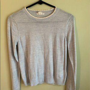 Club Monaco Baby Blue Scallop Sweater